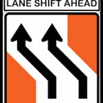 Lane Shift Ahead sign_Fotor
